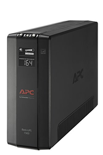APC UPS Battery Backup & Surge Protector with AVR, 1500VA, APC Back-UPS Pro (BX1500M) ()