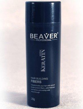 Beaver Keratin Hair Building Fibers 28g/0.98 oz - Medium Brown