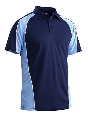 (Hiking Polo Shirts for Men Fitted Golf Polo Athletic Polo 3 Button Travel Climbing Polo Dri Fit Polo Jersey Polo Pique Polo Shirts )