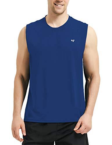 - Roadbox Men's Performance Sleeveless Workout Muscle Bodybuilding Tank Tops Shirts Royal Blue