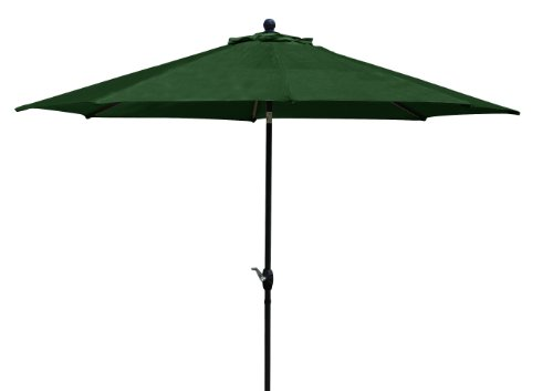 - Ace Evert 803512 Umbrella with Auto Tilt and Olifin Fabric, 9-Feet, Green