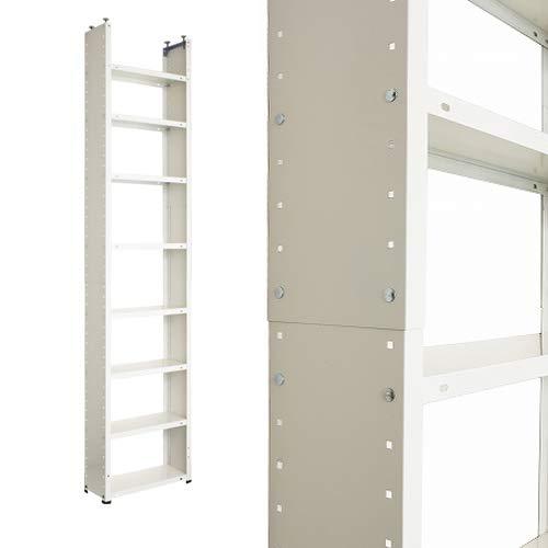 突っ張り棚 CBV-8 幅45×奥行20×高さ160~270cm 8段 ホワイト 10㎏/段 B07RC2JLPJ  幅45×奥行20cm