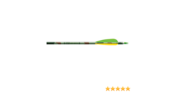 """Easton XX75 Camo Hunter 2117 Arrows Factory Fletched w// 4/"""" Vanes 6 Pack"""