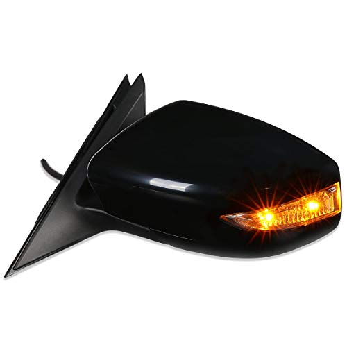 NI1320224 OE Style Powered+Turn Signal Driver/Left Side View Door Mirror for Nissan Altima Sedan 13-18