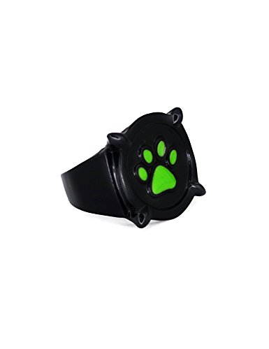 Black Ring Noir (crazycatcos Cat Noir Black Ring Size12 Ladybug and Cat Noir Cosplay Accessories Anime Jewelry)