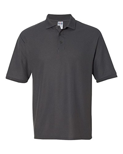 Price comparison product image Jerzees Men's Easy Care Well-Knit Professional Polo Shirt, Chrcl Grey, X-Large