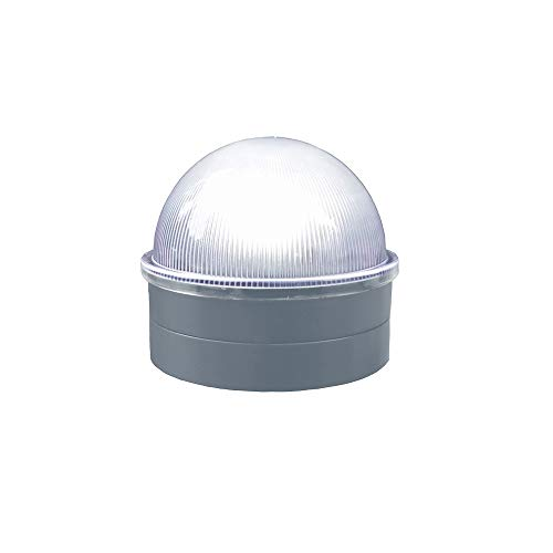 Classy Caps CH2233S Summit Chain Link Fence Solar Post Cap, Silver