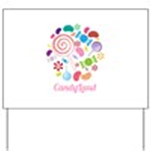 CafePress - Candy Land Yard Sign - Yard Sign, Vinyl Lawn Sign, Political Election Sign