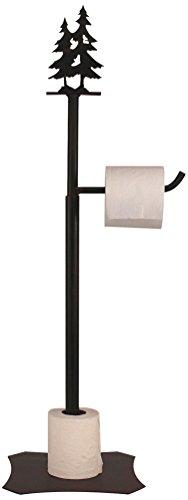 (Coast Lamp Iron double Pine Tree Toilet Paper Holder)