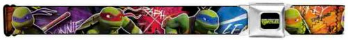- Buckle-Down Seatbelt Belt - TMNT New Series Character Action Pose C/U Multi Color - 1.5