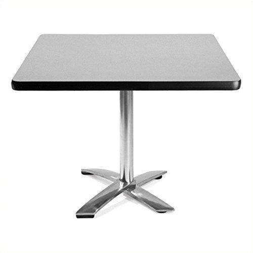 OFM Square Folding Multi-Purpose Table, 42'', Gray Nebula by OFM