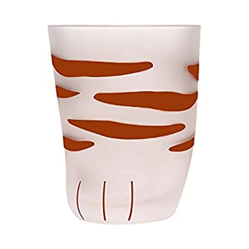 SODIAL Creative Cute Cat Paws Glass Tiger Paws Mug Office Coffee Mug Tumbler Personality Breakfast Milk Porcelain Cup Gift Small Style2