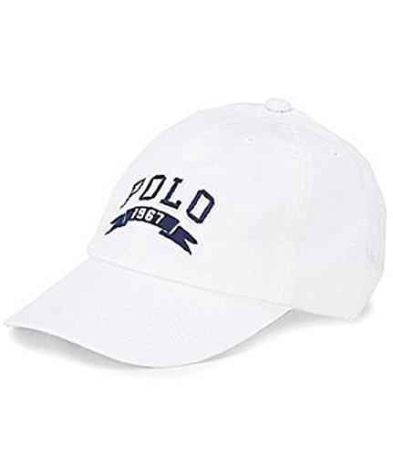 Polo Ralph Lauren Boy`s Big Pony Hat (White, One Size 8-20)