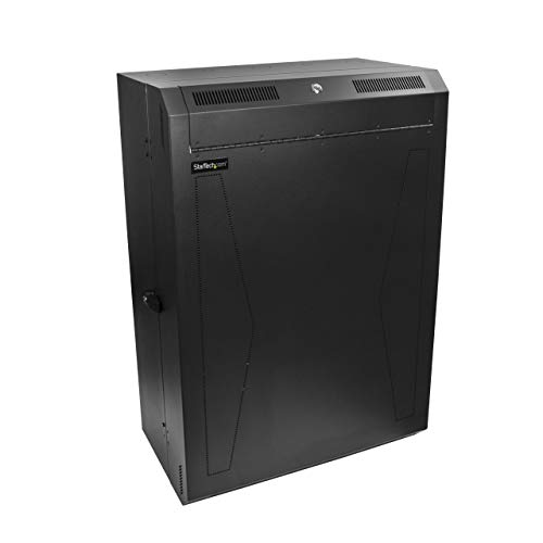StarTech.com Server Cabinet - 8U - 30in Depth - Vertical - Wall Mount Network Rack - Network Enclosure - Wall Mount Server Rack