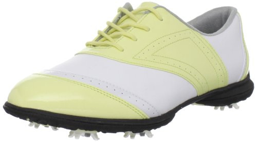 Callaway Women's Jacqui W475-05 Golf Shoe,White/Yellow,6 M US
