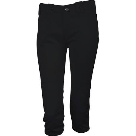 3N2 Girls / Youth Softball Pants, Black, Youth Large ()
