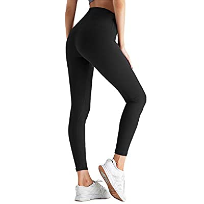 ZOOSIXX High Waisted Leggings for Women - Tummy Control Soft Opaque Slim Pants at Women's Clothing store