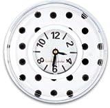 Black & White Polka Dots Locker Clock