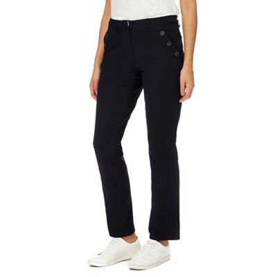 cheap prices shades of new high Maine New England Womens Black Straight Leg Trousers