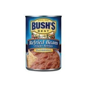 Bush's Best, Refried Beans, Traditional, 16oz Can (Pack of 6) by Bush's by Bush's