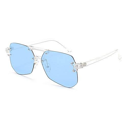 Cadre Conduite Lunettes Lentille Bleu Voyager Protection en Été Femmes de Soleil Style UV Plage Plein Hommes sans Irrégulière Couleur Air pour aqESwxB