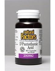B-5 Pantothenic Acid 250mg (90Capsules) Brand: Natural Factors