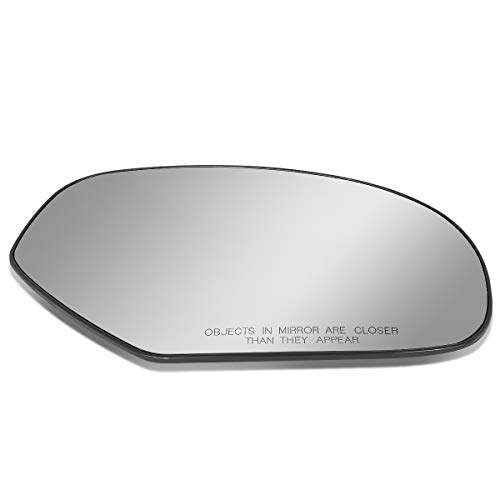 DNA Motoring SMP-061-R Right/Passenger Side Door Rear View Mirror Glass Lens w/Heater ()