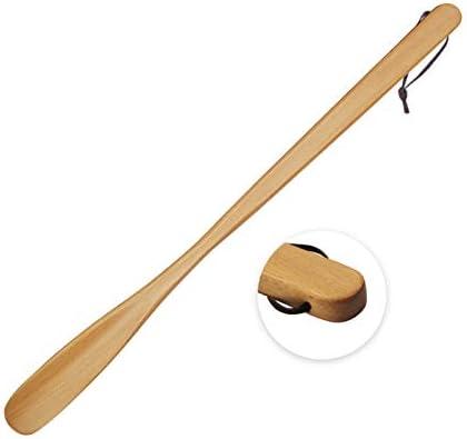 靴べら 天然木 ロング 軽量 靴ベラ 木 製 くつべら 耐用 シューホーン 長さ約54cm (胡桃色)