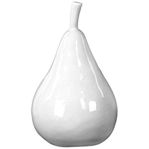 Urban Trends 13901-UT Ceramic Pear, White (Decor Ceramic Pear)