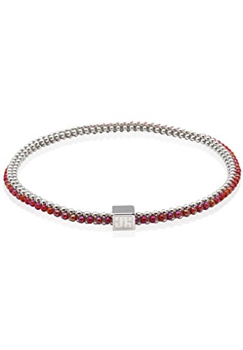 John Humphries Halo Bangle Coral and Silver (Small) by John Humphries Designs