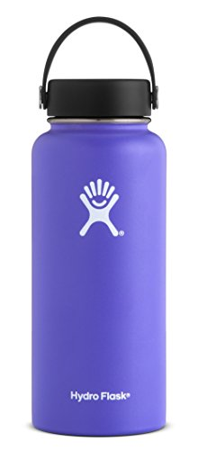 Hydro Flask 40 oz Double Wall Vacuum Insulated Stainless Steel Leak Proof Sports Water Bottle, Wide Mouth with BPA Free Flex Cap, (Free Coat Patterns)