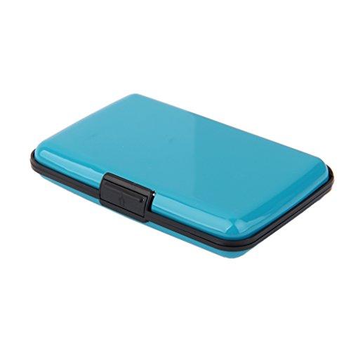MagiDeal Mini Wasserdichte Kredit Kartenhalter Kreditkarteninhaber Geldbeutel Portmonnaie Geldbörse - Hellblau