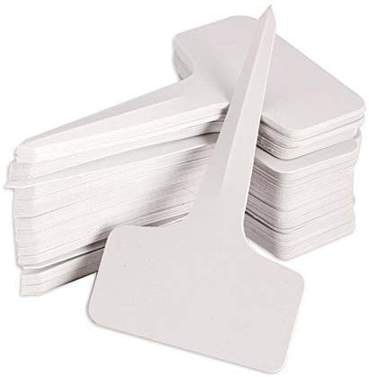 KINGLAKE 300 Pcs 6 x 10cm Plastic Plant T-Type Tags Nursery Garden Labels