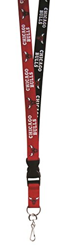 Pro Specialties Group NBA Chicago Bulls Two Tone Lanyard with Detachable Key Ring and Breakaway Safety Closure