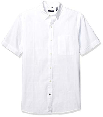 IZOD Men's Saltwater Short Sleeve Solid T-Shirt with Pocket, Bright White 2, 2X-Large