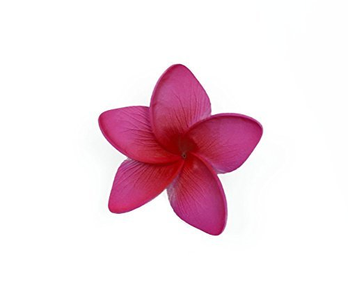 Hawaii Luau Party Dance Artificial Foam Plumeria Hair Clip in Hot Pink 2 -