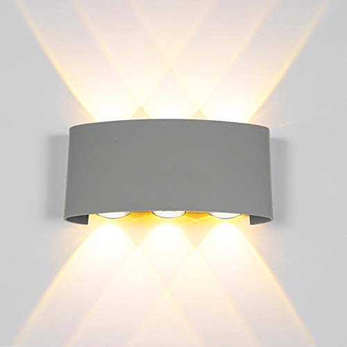Modern led Wall Lights 12W led Wall Sconce Lighting up and Down Wall Lighting Waterproof Wall lamp Outdoor Wall Light Fixture Security Light for Area Lighting, Garage Exterior, Staircase, Porch (Staircase Light Fixture)