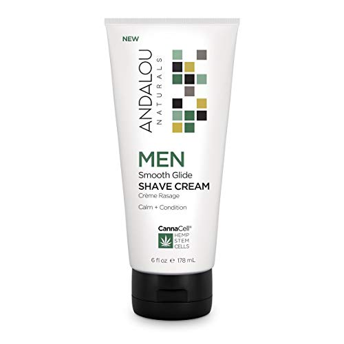 Andalou Naturals CannaCell MEN Smooth Glide Shave Cream 6 fl oz