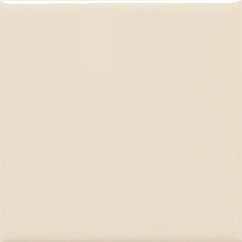 Semi-Gloss Almond 4-1/4 in. x 4-1/4 in. Ceramic Floor and Wall Tile (12.5 sq. ft. / case) (Almond Tile Flooring Gloss)