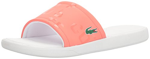 Lacoste Women's L.30 Slide 217 2 Sandal, Orange, 9 M US