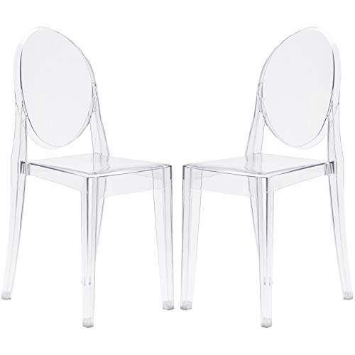 Cheap Poly and Bark Burton Side Chair in Clear (Set of 2)