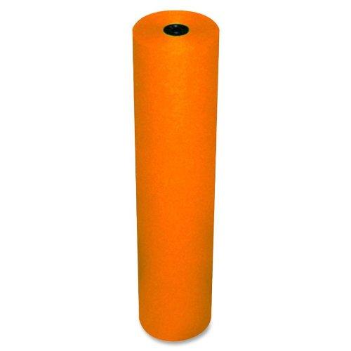Free Pacon Rainbow Lightweight Duo-Finish Kraft Paper Roll, 3-Feet by 1000-Feet, Orange