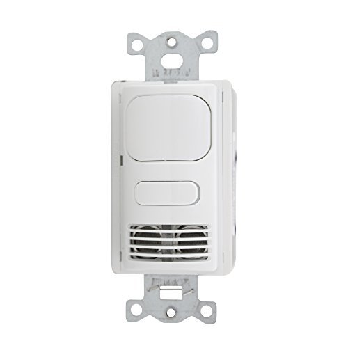 Hubbell AD2000W1 Adaptive Dual Technology Wall Switch with 1 Relay & 1000 sq. ft. Coverage, White