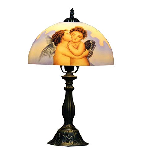 Tiffany Angels Lamp Table (Tiffany Style Table Lamp, Stained Glass Little Angel Design Desk Lamp, Living Room Coffee Shop Bar Club Decorated Table Lights,E27)