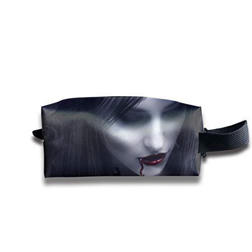 Halloween Zombie Bride Victorian Vampire Multi-Function Key Purse Coin Cash Pencil Travel Makeup Toiletry Bag Box Case