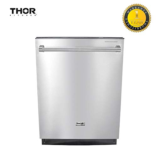Thor Kitchen Semi-built In Style 24inch Dishawasher, Smart Wash System Stainless Steel