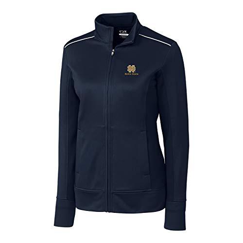 Cutter & Buck NCAA Notre Dame Fighting Irish Long Sleeve Ridge Full Zip Overknit, L