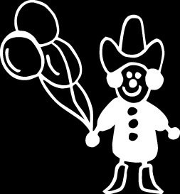 Rodeo ClownStick Figure Family stick em up White vinyl Die Cut vinyl Decal sticker for any smooth surface