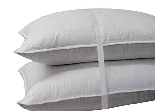 Abripedic Soft Goose Down Pillow - 600 Thread Count, 100% Cotton Shell, King Size, Soft, Set of 2