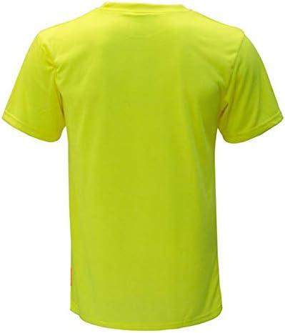 NY Hi-Viz Workwear S3110 Short Sleeve High-Visibility Force Color Enhanced Safety Shirt Small, Neon Yellow